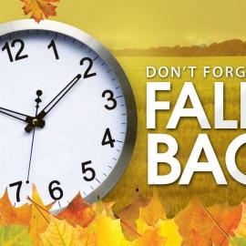 Time Clock Fall Backwards